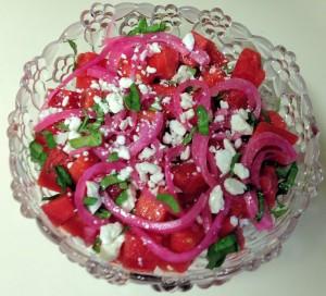 Pickled Purple Onions Prosciutto Watermelon Salad